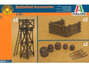 Italeri - Model Kit doplňky 6870 - ARTILLERY POSITION ACCESSORIES, 1/32