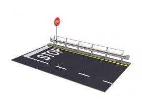 Italeri - doplňky silnice s dopravní značkou a svodidly, Model Kit 3864, 1/24