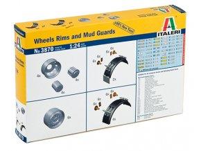 Italeri - doplňky disky a blatníky k Truckům, 1/24, Model Kit 3870