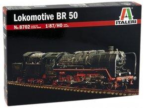 Italeri - parní lokomotiva BR 50, velikost HO, Model Kit 8702, 1/87