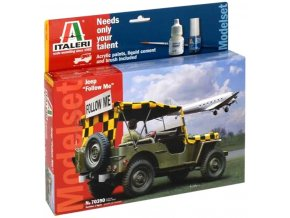 "Italeri - Jeep Willys MB, letištní Safety Car ""Follow me"", Model Set 70390, 1/35"