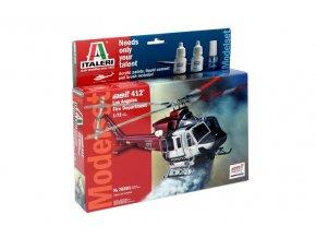 Italeri - Bell 412, hasiči, Los Angeles Fire Department, 1/72, Model Set 70391