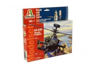 Italeri - Hughes AH-64D Apache Longbow, 1/72, Model Set 71080