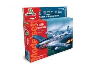 Italeri - North American P-51 /F-51/ Mustang, Model Set 71086, 1/72