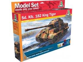 Italeri - Pz.Kpfw.VI Ausf.B Tiger II - Königstiger, Model Set 77004, 1/72