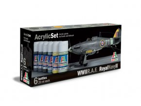 Italeri - Sada akrylových barev - letouny RAF / Royal NAVY II 6 ks, 444AP