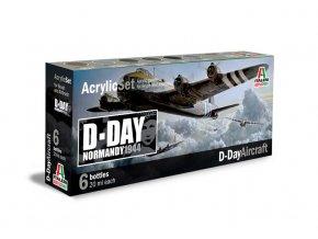 Italeri - Sada akrylových barev - letouny Den D 6 ks, 2.světová válka, 445AP