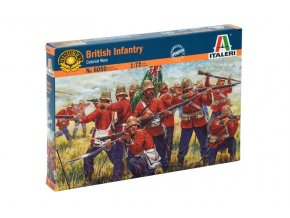Italeri - ZULU WARS - BRITISH INFANTRY, Model Kit figurky 6050, 1/72