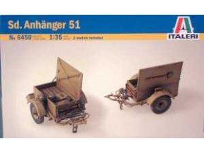 Italeri - přívěsný vozík Sd.Anhänger 51,  Model Kit 6450, 1/35