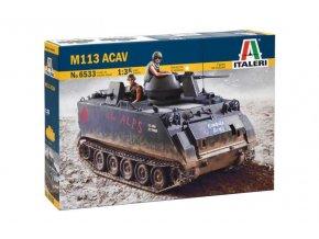 Italeri - americký pásový obrněný transportér M113 ACAV, 1/35, Model Kit 6533