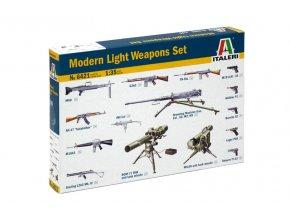 Italeri - doplňky-set lehkých pěchotních zbraní, Model Kit 6421, 1/35