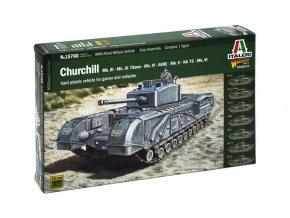 Italeri - Churchill Mk.III / IV / AVRE / NA75, Wargames 15760, 1/56