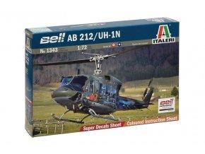 Italeri - Agusta-Bell AB 212 / Bell UH-1N Twin Huey, 1/72, Model Kit 1343