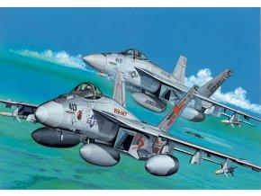 Dragon - Boeing F/A-18E Super Hornet, USAF, VFA-147 Argonauts / VFA-105 Gunslingers, 1/144, Model Kit 4609