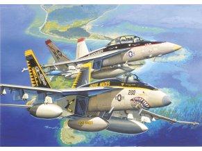 Dragon - Boeing F/A-18E/F Super Hornet, USAF, VFA-27 Royal Maces / VFA-41 Black Aces, 1/144, Model Kit 4618