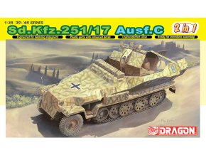 Dragon - Sd.Kfz.251/17 Ausf.C ''Hakl'', velitelská verze, Model Kit 6592, 1/35