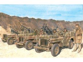 Dragon - figurky posádka vozu SAS, severní Afrika, 1942, Model Kit 6682, 1/35