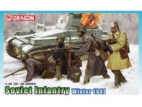 Dragon - figurky sovětská pěchota, zima, 1941, Model Kit 6744, 1/35