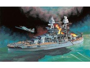 Dragon - bitevní loď USS Arizona a Nakajima B5N2 Kate, 7,12.1941, Útok na Pearl Harbor, 1/700, Model Kit 7127