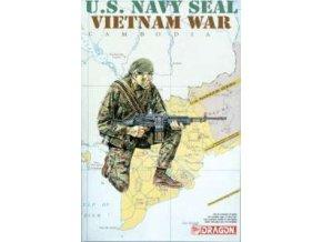 Dragon - figurky Navy SEALs, Válka ve Vietnamu, Model Kit 1607, 1/16