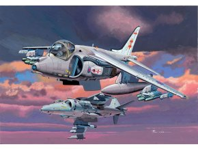 Dragon - British Aerospace Harrier II. GR.7 + British Aerospace Harrier II. GR.9, 1/144, Model Kit 4603
