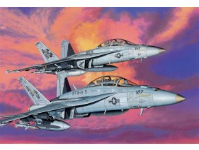 """Dragon - Boeing F/A-18F Super Hornet, VFA-11 """"Red Rippers"""" / VFA-211 ''Fighting Checkmates'', 1/144, Model Kit 4610"""