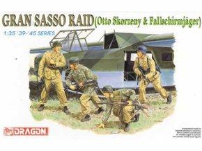 Dragon - figurky němečtí výsadkáři, Gran Sasso, osvobození Mussoliniho, Model Kit 6094, 1/35