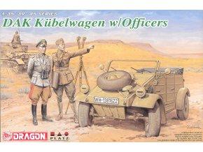 Dragon - KdF 82 Kübelwagen s důstojníky, Deutsches Afrika Korps, Model Kit 6364, 1/35