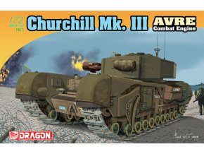 Dragon - tank Churchill Mk.III AVRE, Model Kit 7327, 1/72