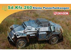Dragon - obrněné vozidlo Sd.Kfz.260 Leichter Panzerspähwagen, Model Kit 7446, 1/72