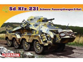 Dragon - obrněné vozidlo Sd.Kfz 231, Model Kit 7483, 1/72