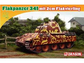 Dragon - Flakpanzer 341 mit 2 cm Flakvierling, Model Kit 7487, 1/72