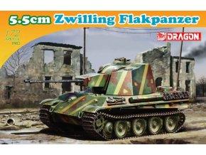 Dragon - 5.5cm Zwilling Flakpanzer, 1/72, Model Kit 7488