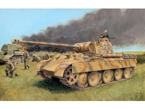 Dragon - tank Pz.Kpfw.V Ausf.D Panther, Model Kit 7494, 1/72