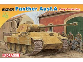 Dragon - tank Pz.Kpfw.V Ausf.A Panther, Model Kit 7499, 1/72