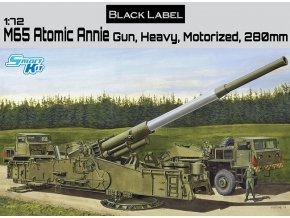 "Dragon - M65 ""Atomic Annie"" 280mm, Americký atomový kanón, Model Kit 7484, 1/72"