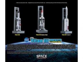 Dragon - nosná raketa Titan III ve startovní poloze, NASA, 1/400, Space Collection rakety 56395