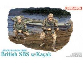 Dragon - figurky vojáků britské jednotky SBS s kajakem, Model Kit 3023, 1/35