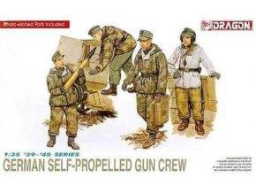 Dragon - figurky německých vojáků - osádka samohybného děla, Model Kit 6016, 1/35