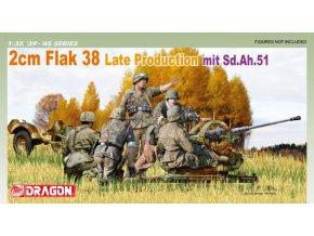 Dragon - 2cm Flak 38 s vozíkem Sd.Ah.51, 1/35, Model Kit 6546