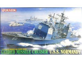 Dragon - raketový křížník USS Normandy, 1/700, Model Kit 7023