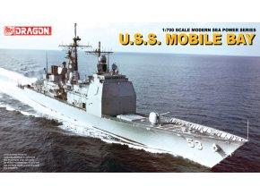 Dragon - raketový křižník USS Mobile Bay, 1/700, Model Kit 7035
