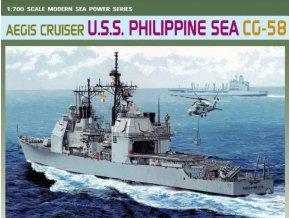 Dragon - raketový křižník USS Philippine Sea CG-58 , 1/700, Model Kit 7045