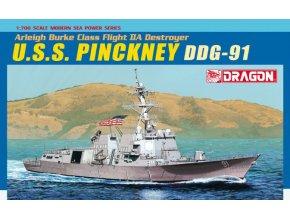 Dragon - raketový křižník USS Pinckney DDG-91 , 1/700, Model Kit 7057