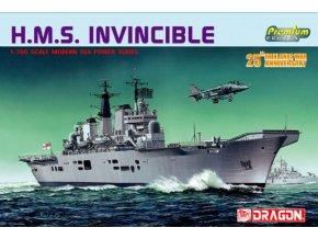 Dragon - letadlová loď HMS Invincible, 1/700, Model Kit 7072