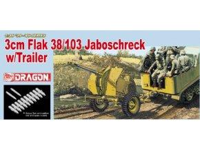 Dragon - 3cm Flak 37/103 Jaboschreck s vozíkem, 1/35, Model Kit 6353