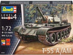 Revell - T-55A / AM, Plastic ModelKit tank 03304, 1/72