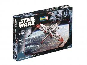 Revell - Star Wars - ARC-170 Clone Fighter, Plastic ModelKit SW 03608, 1/83
