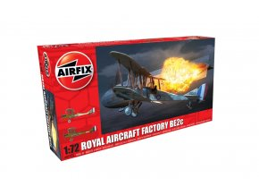 Airfix - Royal Aircraft Factory B.E.2 C, Clasic Kit letadlo A02101, 1/72
