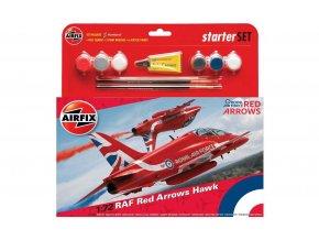 Airfix - Bae Hawk, RAF Red Arrows, 1/72, Starter Set A55202B